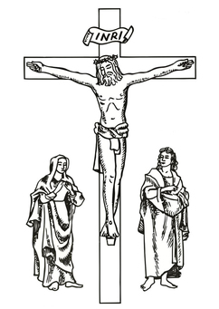 Coloring page Good Friday