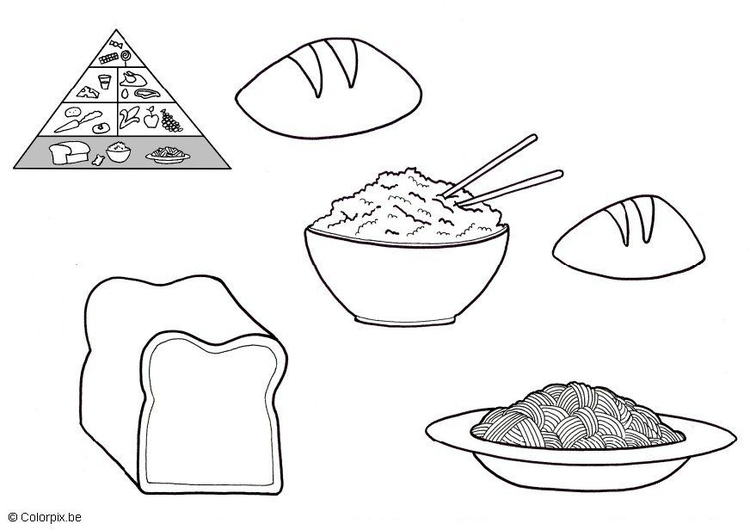 Coloring page grain products