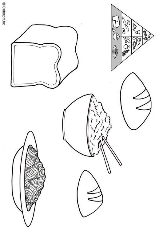Grain Food Group Coloring Pages Coloring Pages