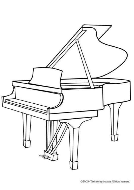 Coloring Page Grand Piano