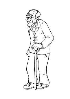 Coloring page grandfather
