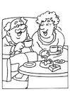 Coloring pages Grandma and Grandpa