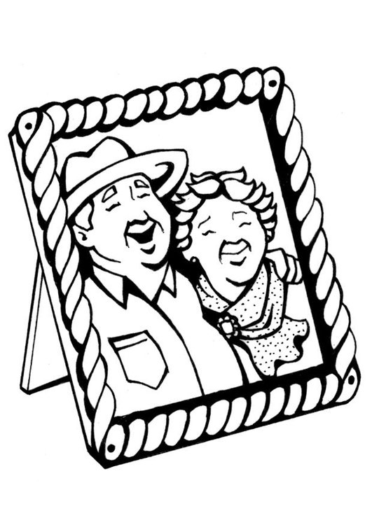 Coloring page Grandparents