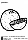 Coloring page grapefruit
