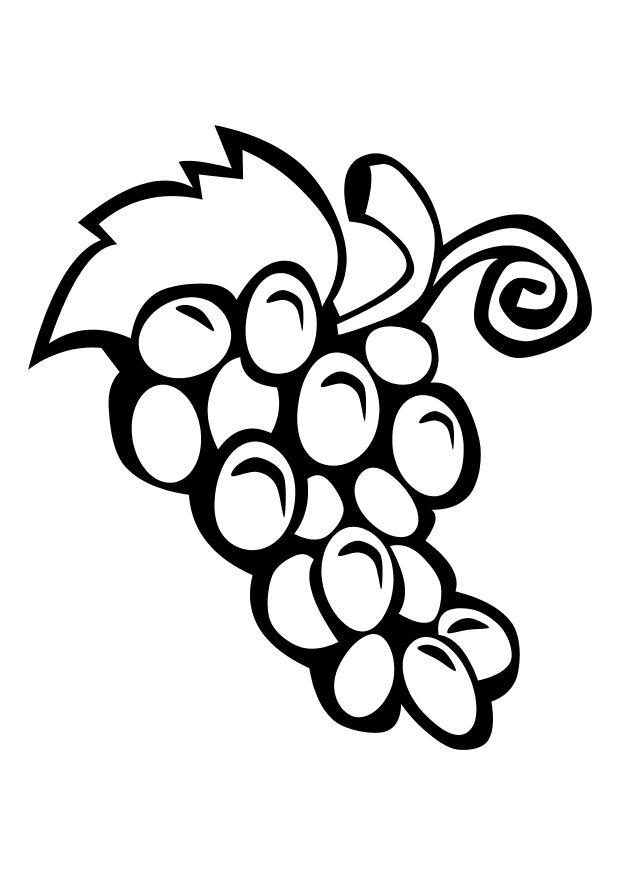 download large image - Grapes Coloring Page