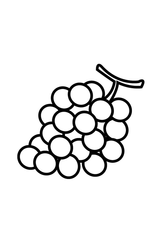 Coloring page grapes