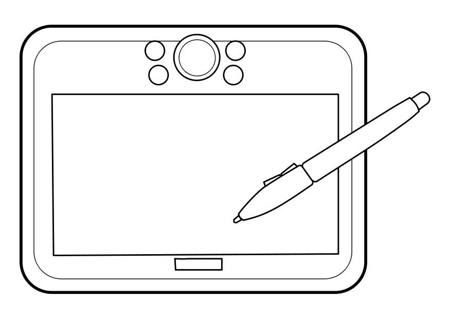Coloring page graphics tablet
