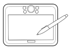Coloring pages graphics tablet