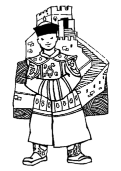 Coloring page Great Wall of China