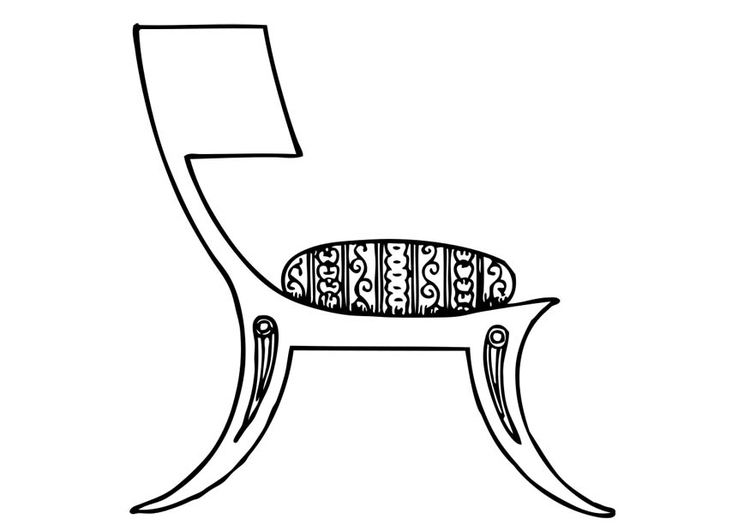 Coloring page Greek Chair