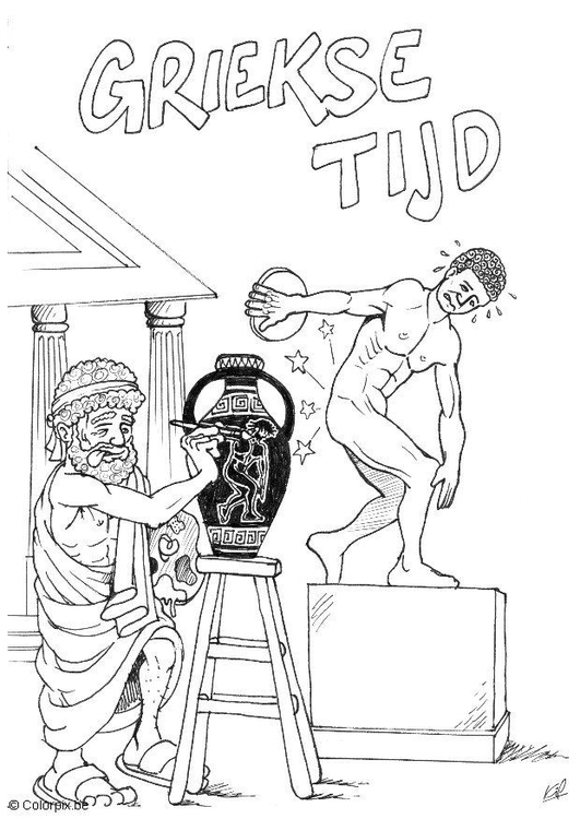 Coloring page Greek civilization