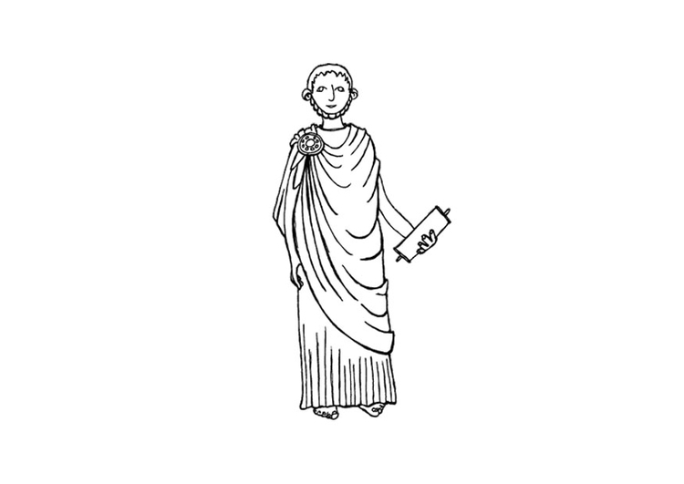 Coloring page greek