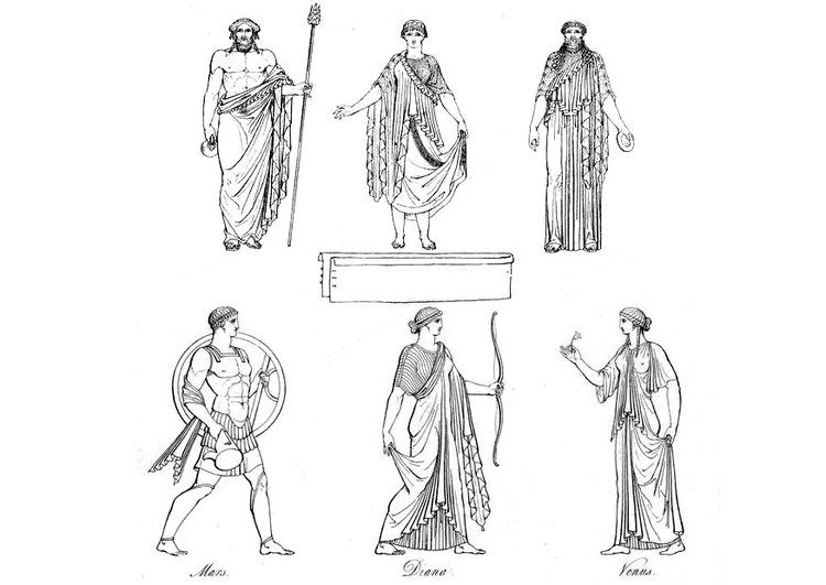 Coloring page Greek gods and goddesses
