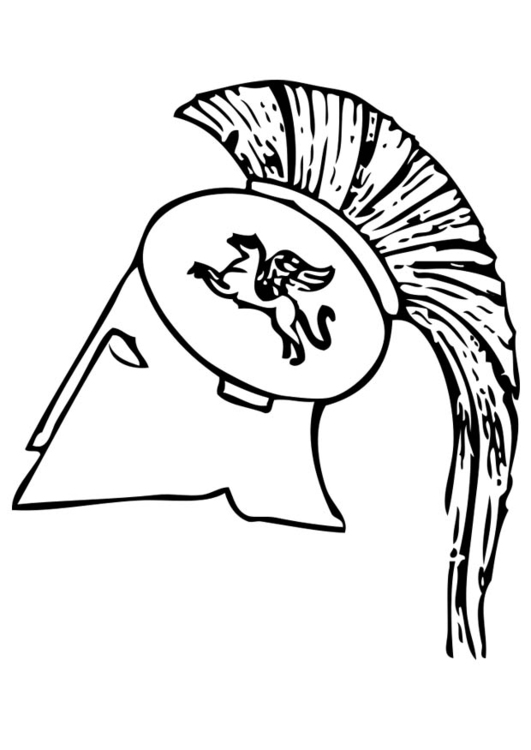 Coloring page Greek Helmet