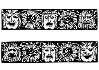 Coloring page Greek masks