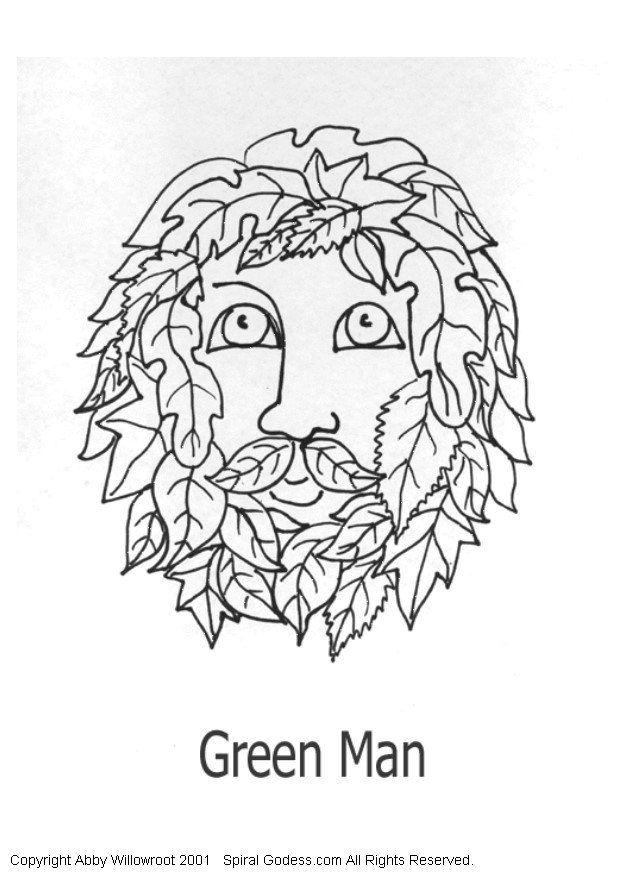 green man coloring pages - photo#17
