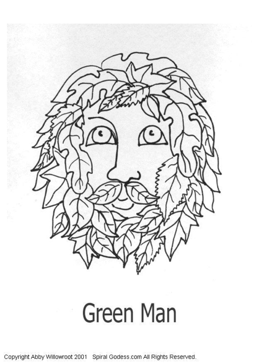 free coloring page green man img with green coloring page
