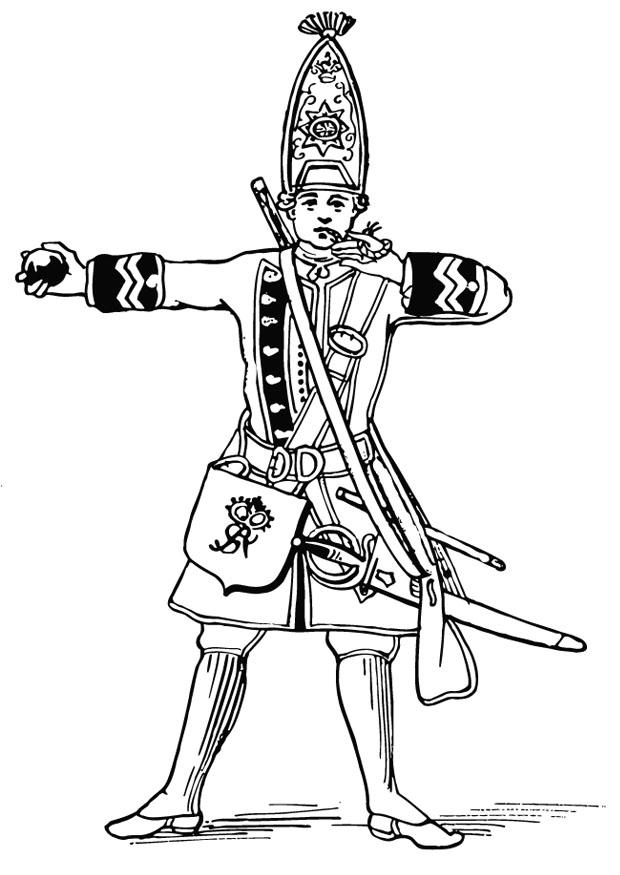 Coloring Page Grenadier Free Printable Coloring Pages