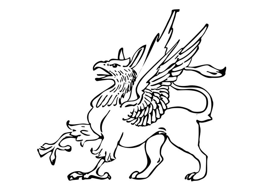free griffon coloring pages | Coloring page griffin - img 27797.