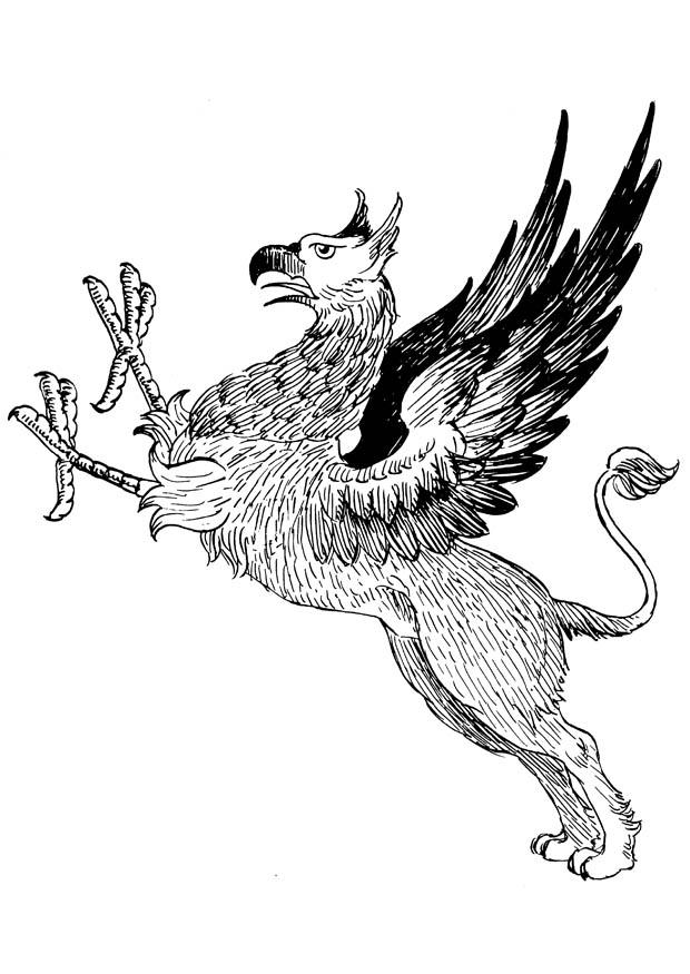 free griffon coloring pages | Coloring page griffon - img 16648. Images