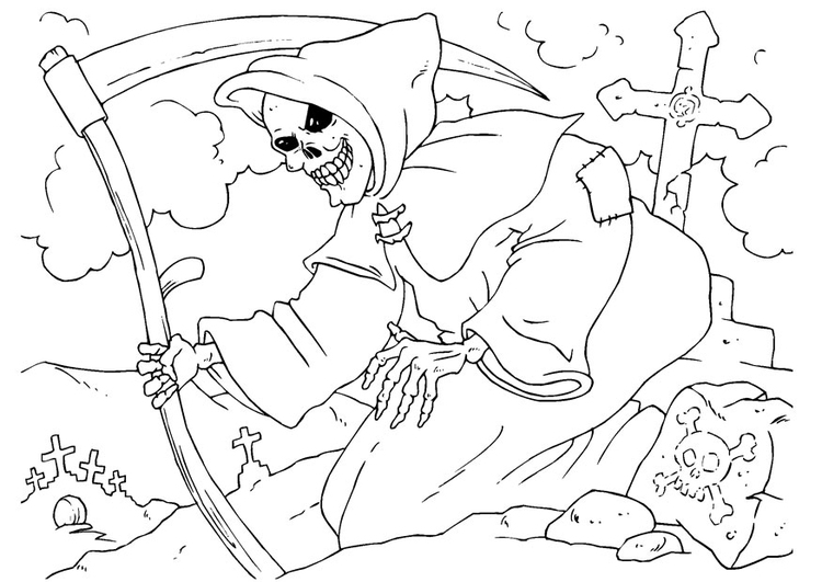 Coloring page Grim Reaper