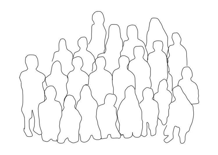 Coloring page group of people - class
