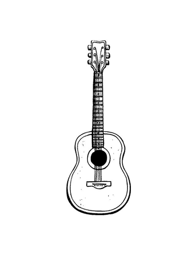 Coloring Page Guitar Img 9583 Imagesrhedupics: Large Guitar Coloring Page At Baymontmadison.com