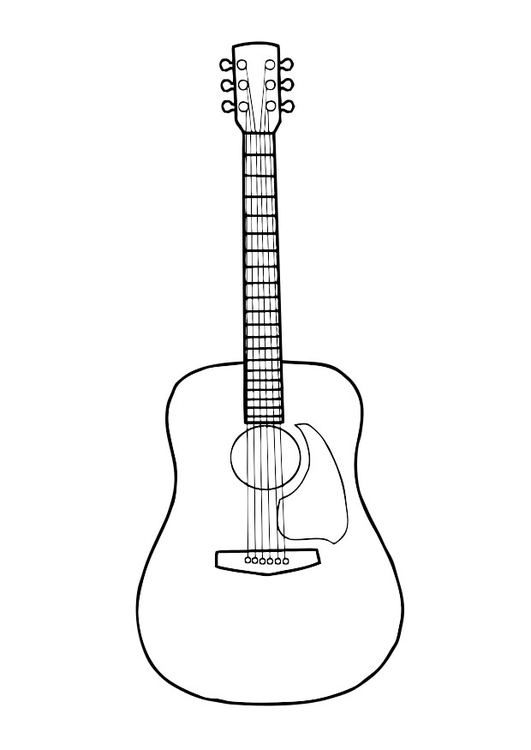 Coloring page guitar
