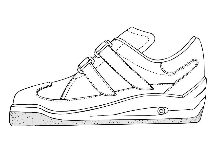 Coloring page gym shoe img 28407