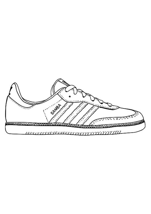 Coloring page gym shoe img 29484