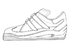 Coloring pages gym shoe