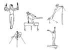 Coloring page gymnastics