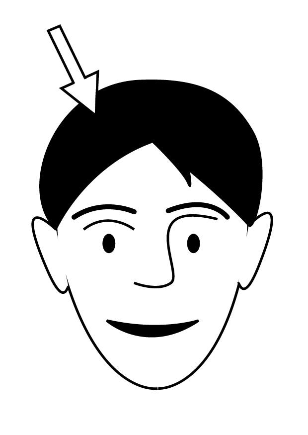 Coloring page hair - img 26949.