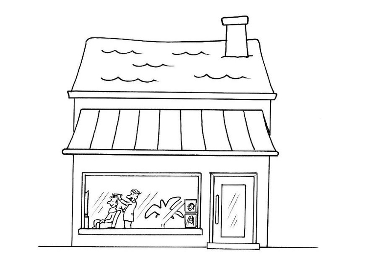 Coloring page hairdresser