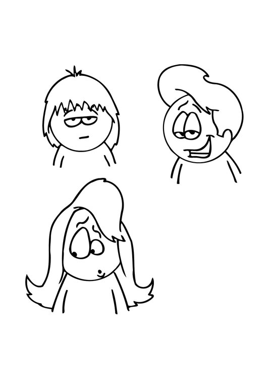 Coloring page hairstyles