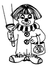 Coloring pages halloween clown