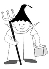 Coloring pages halloween costume