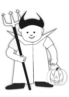 Coloring page halloween costume