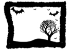 Coloring pages Halloween frame