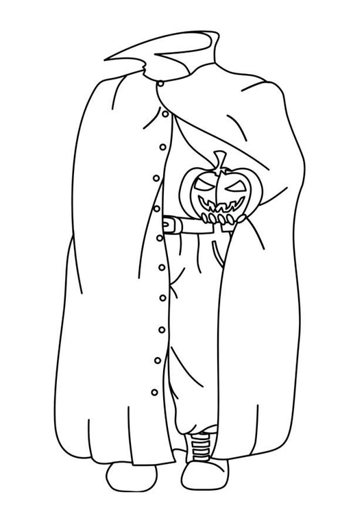 Coloring page halloween ghost