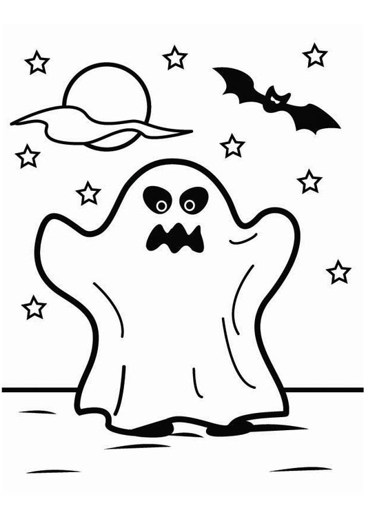 coloring page halloween ghost img 26451