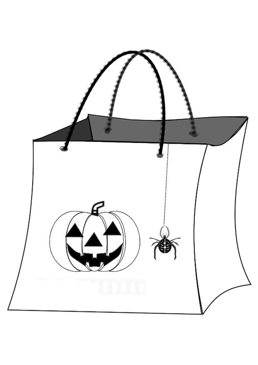 Coloring page halloween goodie bag