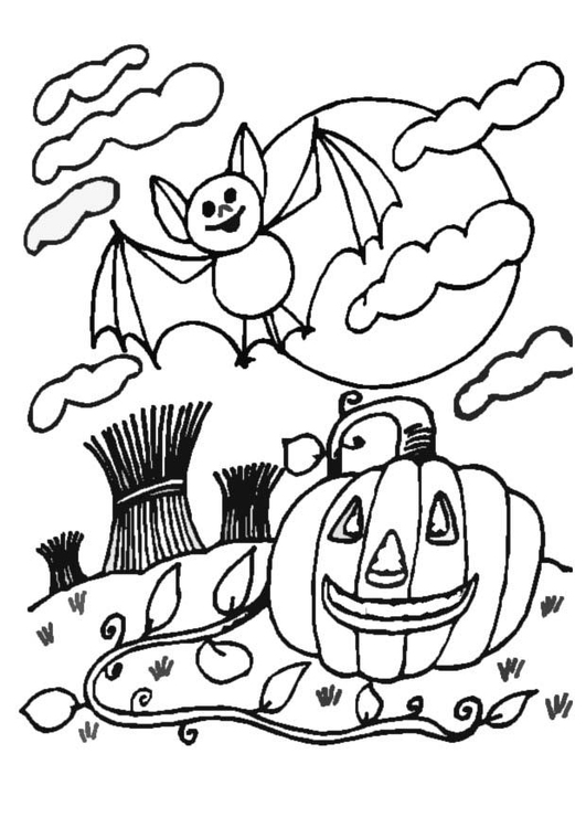 Coloring page halloween night