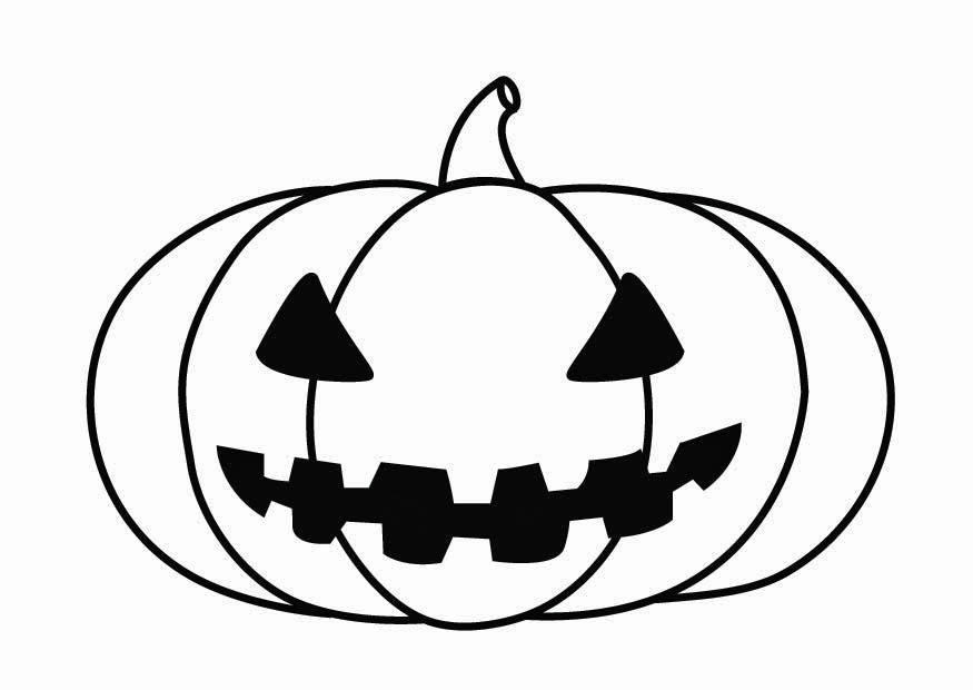 Coloring page Halloween pumpkin - img 26871.