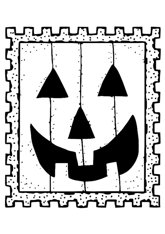 Coloring page halloween stamp