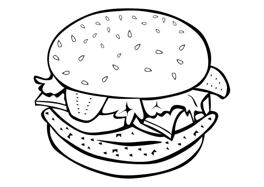 hamburger coloring pages Coloring page hamburger   img 10108. hamburger coloring pages