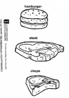 Coloring pages hamburger steak chops