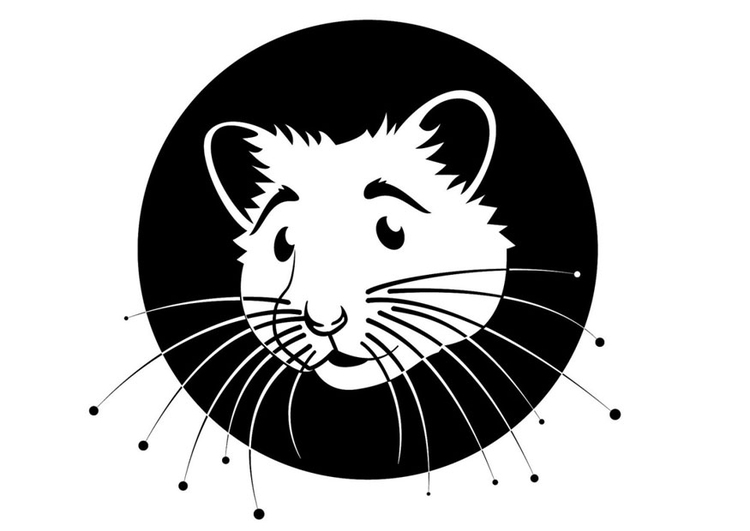Coloring page hamster