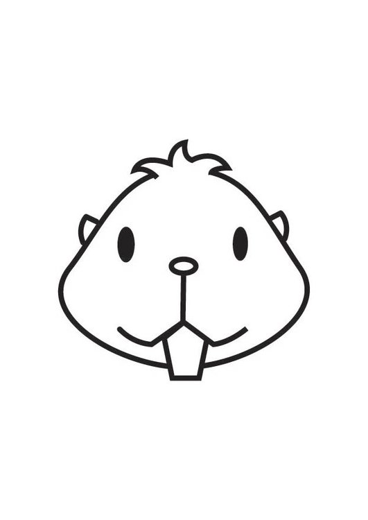 Coloring page Hamster Head