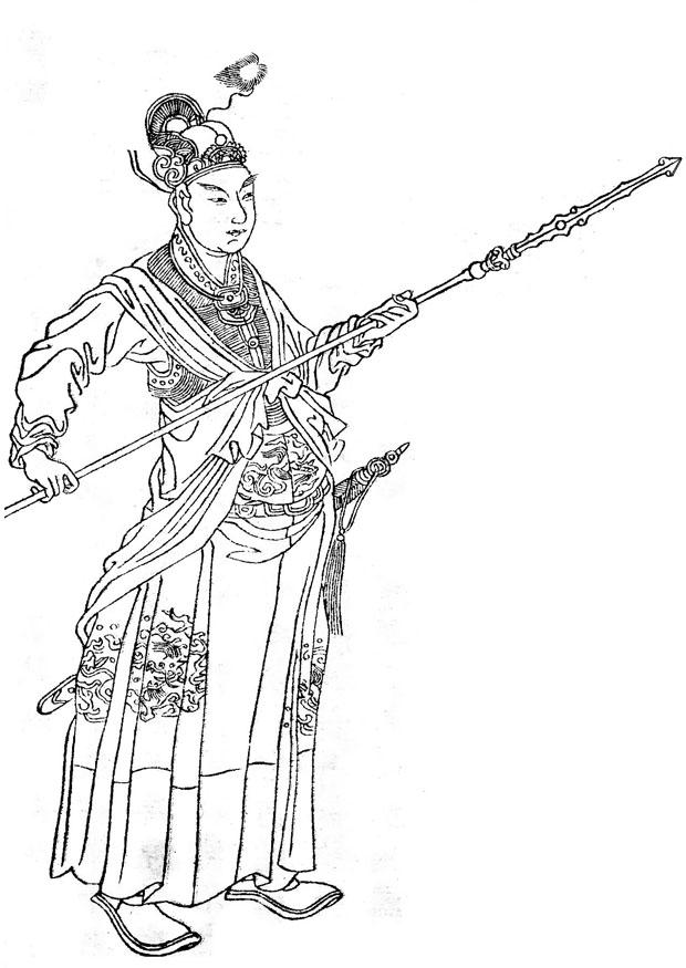 Coloring page Han Xin img 12979